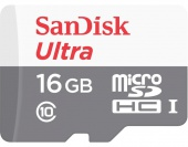 SanDisk 16 GB microSDHC UHS-I Ultra + SD Adapter SDSQUNB-016G-GN3MA (300812)
