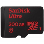 SanDisk 200 GB microSDXC Android Ultra + SD adapter SDSDQUAN-200G-G4A (300818)