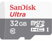 SanDisk 32 GB microSDHC UHS-I Ultra + SD Adapter SDSQUNB-032G-GN3MA (300814)